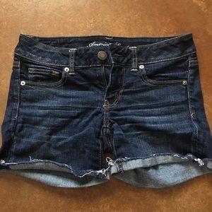 Dark Wash American Eagle Jean shorts